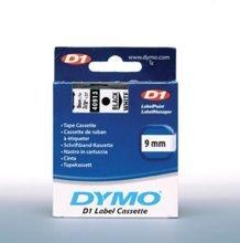Preisvergleich Produktbild Schriftband D1, 9mm breit, 7m lang, schwarz auf weiß