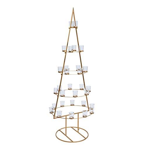 Pureday Weihnachtsdeko - Weihnachtsbaum Golden Tree - Kerzenhalter - Metall - Gold - Höhe ca. 148 cm