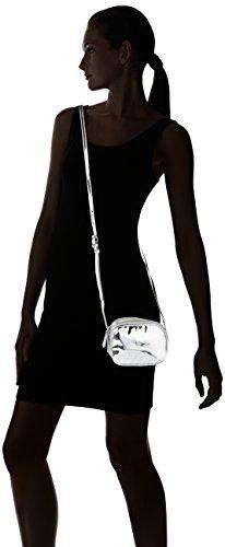 PIECES Damen Pclarissa Cross Body Schultertasche, 7x12x16 cm Silber (Silver)