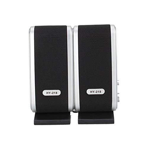 Yao Kabelgebundene USB-Lautsprecher Stereo 3,5-mm-Audio-Buchse für PC-Laptop-Computer MAC
