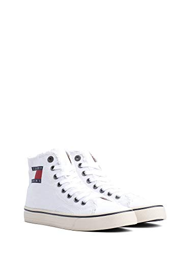 Tommy Hilfiger Damen WMN Hightop Tommy Jeans Sneaker, Weiß (White 100), 38 EU High-top-slip