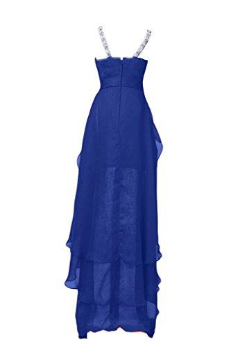 Sunvary Chic in Chiffon Hi-Lo V-Neckline Party Dress-Costume vestito da Cocktail Royal Blue