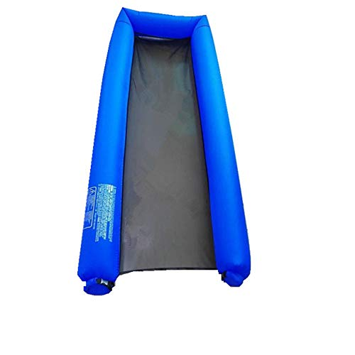 HIDENFAFR Tragbares Schlauchboot für Erwachsene, Floating Lounger Pool Float, Floating Bed für Stay Cool und Fußstütze,DarkBlue