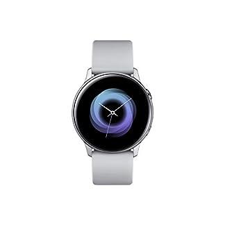 SAMSUNG Galaxy Watch Active Reloj Inteligente Plata SAMOLED 2,79 cm (1.1″) GPS (satélite) – Relojes Inteligentes (2,79 cm (1.1″), SAMOLED, Pantalla táctil, GPS (satélite), 25 g, Plata)