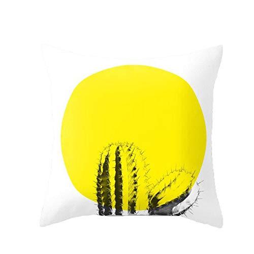 Funda de Cojín decorativa amarilla. Combinar cojines amarillos