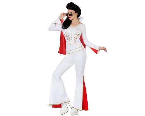 weibliches Kostüm, Größe XS-S, weiß/rot (70er Jahre Weibliche Kostüme)