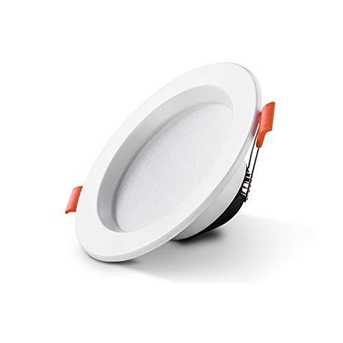 DEPAOSHJ 6 paquetes de lámpara de luz de panel empotrable empotrada de...