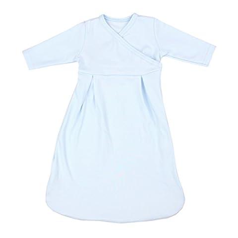 Baby Innenschlafsack 100% Baumwolle Langarm Innensack für Schlafsack, Farbe: Blau, Größe: 74/80