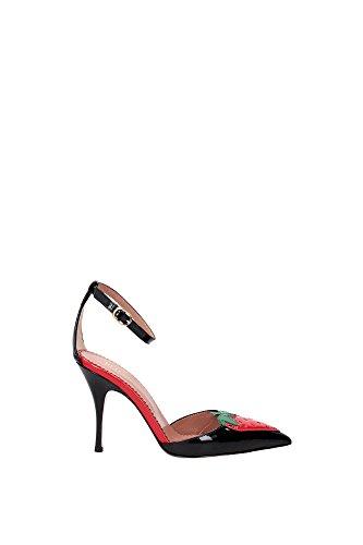 KQ2S0740VRCN2A Valentino Red Sandale Femme Cuir Verni Noir Noir