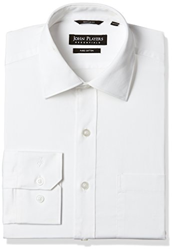 John Players Men's Formal Shirt (8902986977746_JFMWSHCOR7039003_40_Bright White)