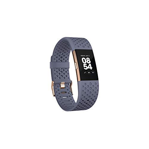 Imagen de fitbit charge 2 pulsera de actividad física y ritmo cardiaco, blue/grey, s