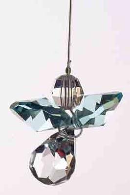 Swarovski Hanging Crystal Guardian Angel Birthstone Suncatcher MARCH - AQUAMARINE