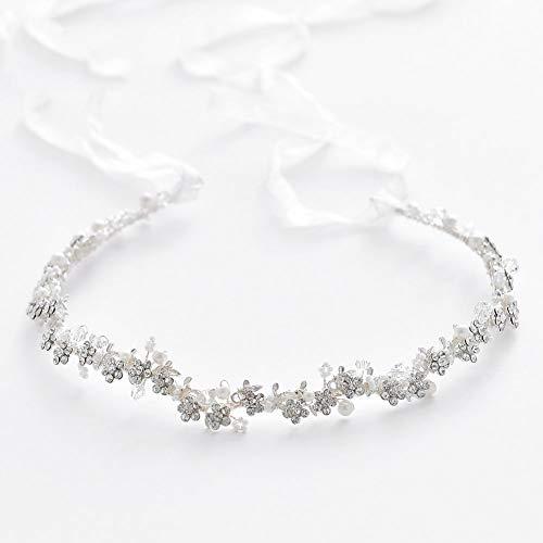 Kreative Braut Haarband Handgemachte Kristall Perle Tiara Prinzessin Brautjungfer Mädchen...