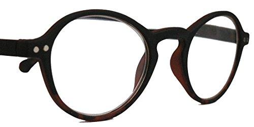 Klassische filigrane Retro Lesebrille Damen Herren Hornbrille im Vintage Stil OVR (49 schwarz/leo 2.5 dpt)