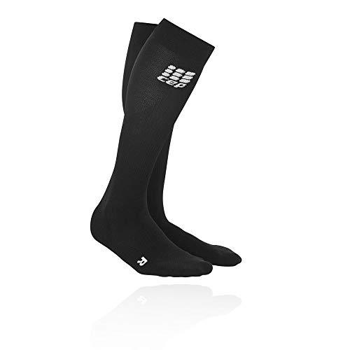 CEP Damen Strumpf Progressive+ Run Socks 2.0, Black/Black, Gr.III (Kompression Running Socken Damen)