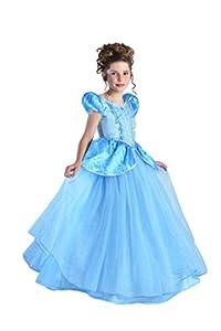 Cesar princesa Cenicienta, niña, F796-002, Azul, 5/7años