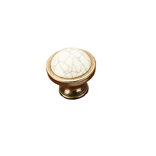 Xin Pang 5 Pcs - Küche Griff Retro Keramik Griff Schrank Möbel Schublade Schrank Tür Bronze Hardware Griff Einzelne Bohrung [Ein Loch]