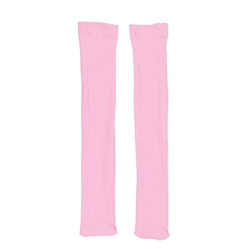Sportsocken Knielang Funktionssocken Oberschenkel Hohe Beinstulpen Lauf Unterstützung Socken Lange Socken Rosa One Size ()