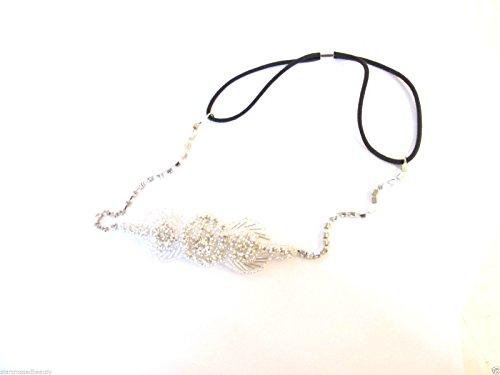 Argent Diamante Strass Bandeau Bandeau Vintage Années 1920 Flapper mariée 220 * * * * * * * * exclusivement vendu par - Beauté * * * * * * * *