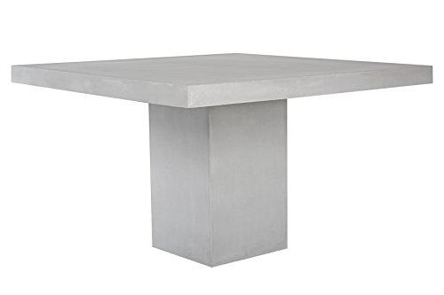 Matodi Betontisch 120x120 cm aus Fiberstone Gartentisch Betonmöbel