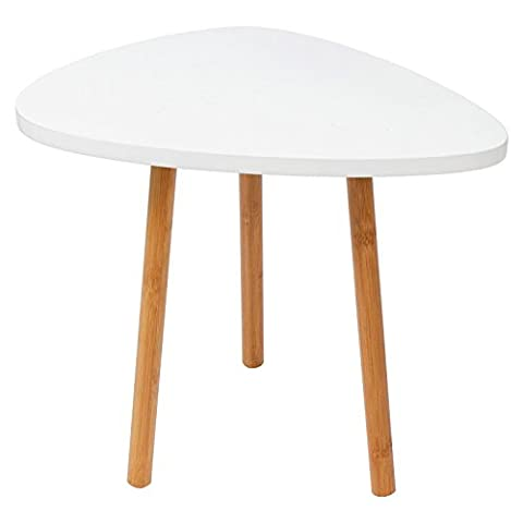 WOLTU BT05ws Rounded Triangle End Table Retro Design Dining Table