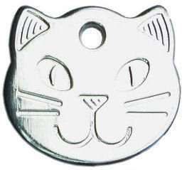 personalised-solid-chrome-durable-cat-head-pet-id-tag-disc-engraved-free