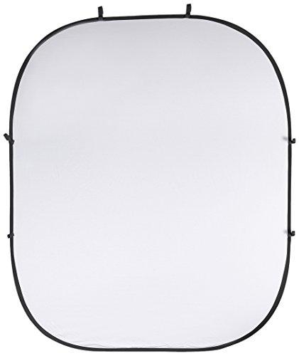 PhotoSEL BD123WB Fotohintergrund, wendbar/doppelseitig, faltbar, 2x2,4m, Weiß/Schwarz