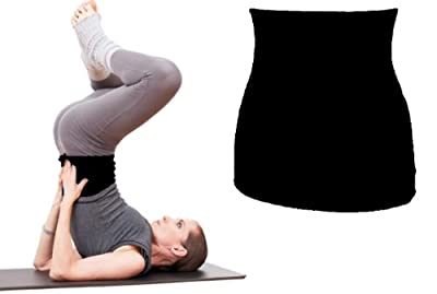 Joga Bekleidung - Shirtverlängerer für Damen / Herren / Kinder Baumwolle Shirt schwarz uni Frau XXXL