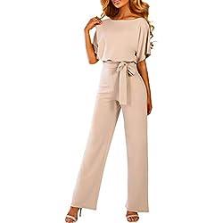Sunnywill Combinaisons Femme Sexy Manche Courte Combishort Lingerie Bodys Combi Pantalon
