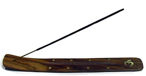 Thermovip. possessore di incenso. grande tavolo in legno frassino 26cm. in ottone intarsiato. vari motivi
