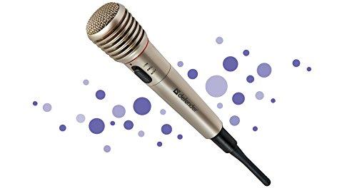 Defender Micrófono inalámbrico para karaoke Mic de 140gris, radio 87–92MHz