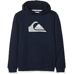 Quiksilver Big Logo Sudadera, Niños, Azul (Navy Blazer BYJ0), (Tamaño del Fabricante:XS/8)