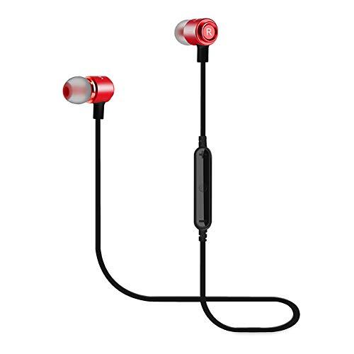 WERNG Bluetooth-KopfhöRer Magnet Sport-Bluetooth-In-Ear-KopfhöRer Drahtlose OhrhöRer,red