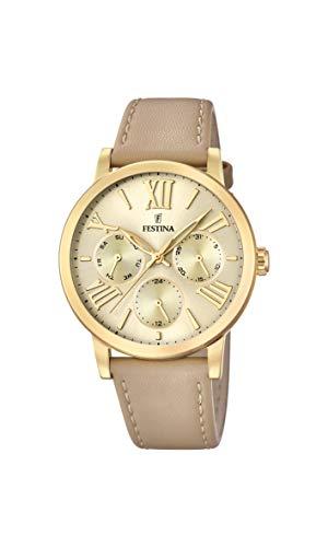 Festina Damen Chronograph Quarz Uhr mit Leder Armband F20416/1