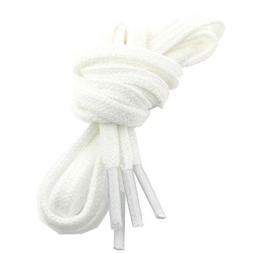 Les lacets Français - Lacets Plats Coton Couleur Blanc