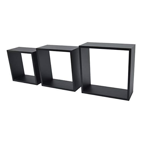 DURAline 1195852 White Label Triple Cube 12mm 30x30x12 cm Noir, Bois, 30 x 12 x 30 cm
