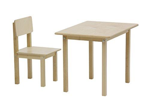 Polini Kids Kindersitzgruppe Simple 105 natur aus Naturholz,3050