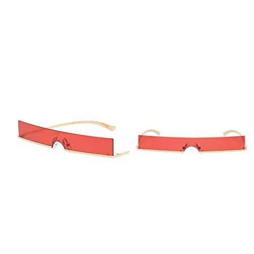Hellery 2X Rechteck Brille Sonnenbrille Für Frauen Mode Clout Brille Spiegel UV400 Schutz Brillen