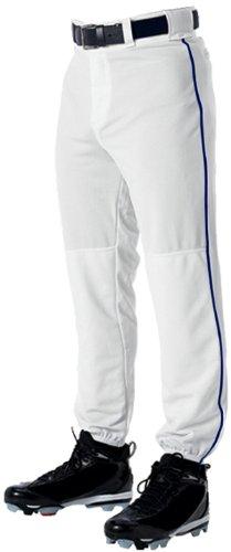 """Alleson Baseball Hose mit Rohrleitungen-Erwachsene, Unisex Herren, weiß/Marineblau, 48-50"""" W X 30.5"""" L"""