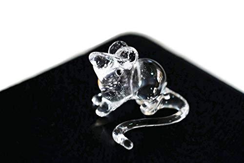 Art Glass Mini-anhänger (ChangThai Design 3 Stück Ratten Handschale Glas Puppenhaus Miniatur-Dekoration Figur)