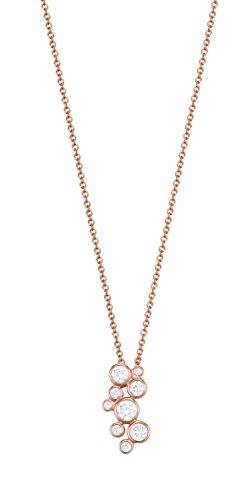 Esprit Essential Damen-Kette mit Anhänger ES-SYMPHONY ROSE 925 Silber rhodiniert Zirkonia transparent