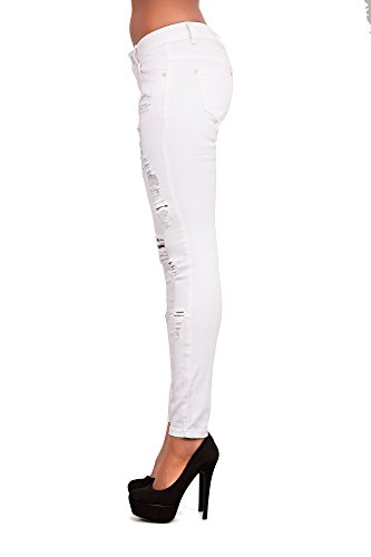 LustyChic Damen Jeanshose White Ripped Jeans