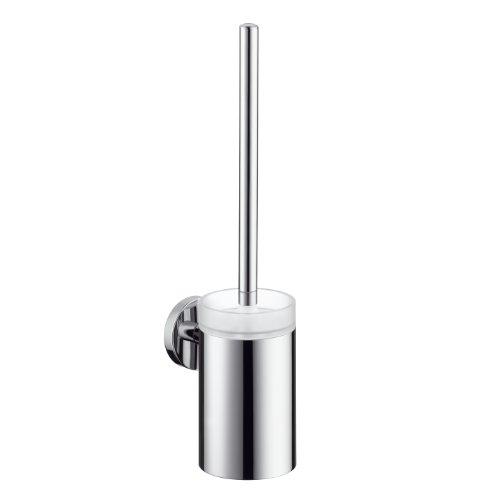 Tub Filler-handshower (Hansgrohe 40522820 Toilettenbürstengarnitur Logis mit Behälter aus Kristallglas, brushed nickel)