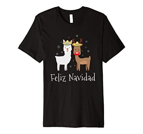 Feliz Navidad Weihnachten Lama-T-Shirt Geschenk