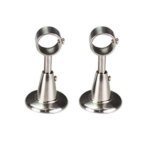 Vosarea Vorhangstange Verstellbare Deckenhalterung Gardinenstangenhalter 28mm 2 Stück (Silber)