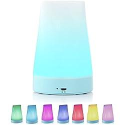 jhua lámpara LED inteligente de ambiente a colores, luz a rotación y ajustable, panel sensitivo al tacto, 6W, 256colores, para la decoración de salón y dormitorio de cama, Yoga ECC (blanco)