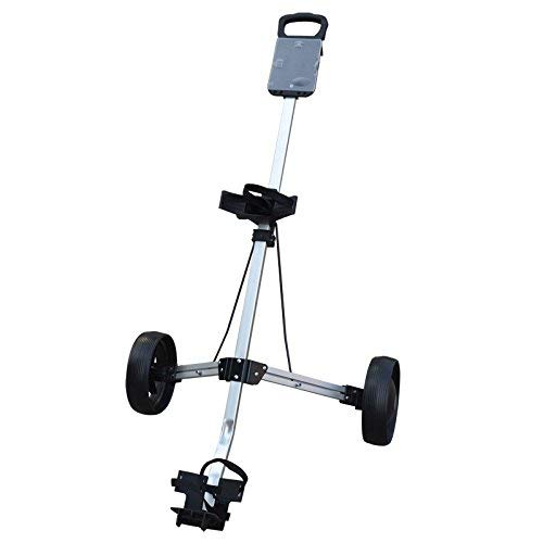 Golfoy Basics Polar Lander Two Wheel Foldable Compact Aluminium Golf Cart/Trolley