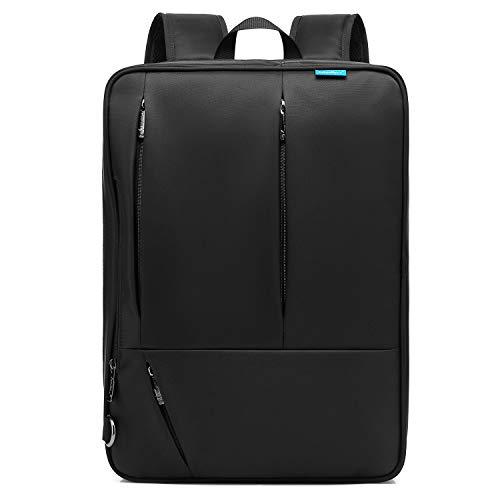 coolbell Convertible Messenger Laptop Rucksack Schultertasche Tasche Handtasche Business Aktentasche Multifunktions-Reisen Rucksack passt 43,9cm Laptop für Männer/Frauen (schwarz) (Convertible Messenger)