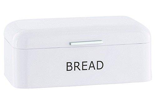 heine-home Brotkasten geräumige Metall Brotbox im klassischen 40er Jahre Stil (weiß)