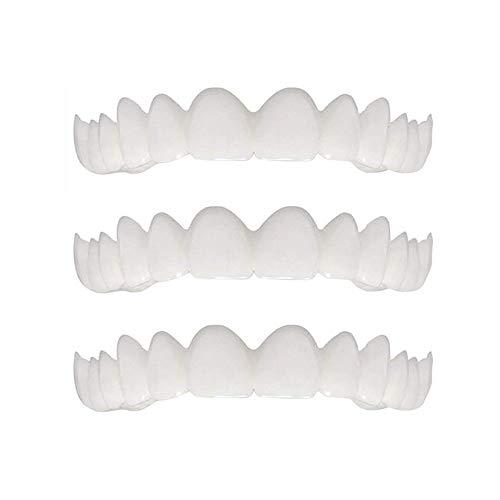 Zahnersatz Neue Snapon Lächeln Simulation Zahnspange Silikon Bleaching Zahnspange Instant-Furnier-Blatt-Prothesen(3 Packungen) -